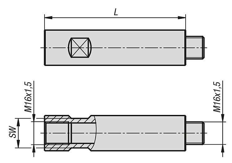 Kipp Prodluzovaci Hridele Pro Stabilizator Obrobku