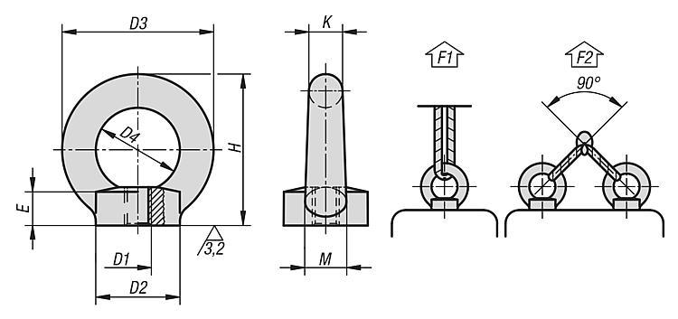 Kipp Matice S Okem Din 582 Ocel Nerezova Ocel Podobne Din 582