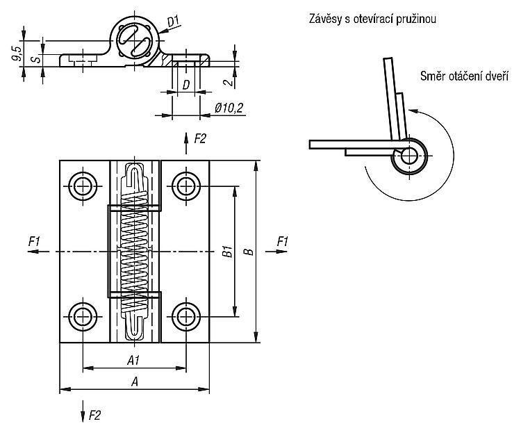 Kipp Tazne Pruzinove Zavesy Na Hlinikovy Profil 0 7 Nm